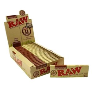 Raw 1 1/4 Organic Rolling Paper Display