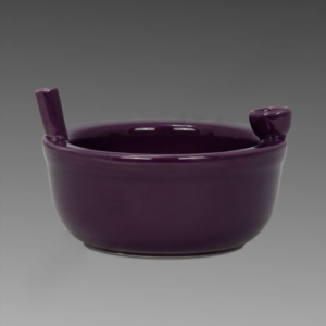 Roast & Toast Ceramic Cereal Bowl Purple - Pipe What's better than cereal and a smoke? Both at the same time. Adventurous smokers can experience both at the same time with this Roast & Toast Ceramic Cereal Bowl. This convenient and fun bowl holds cereal, and, on the side, there's a place for tobacco or legal smoking herbs. This unique bowl is dishwasher and microwave safe.