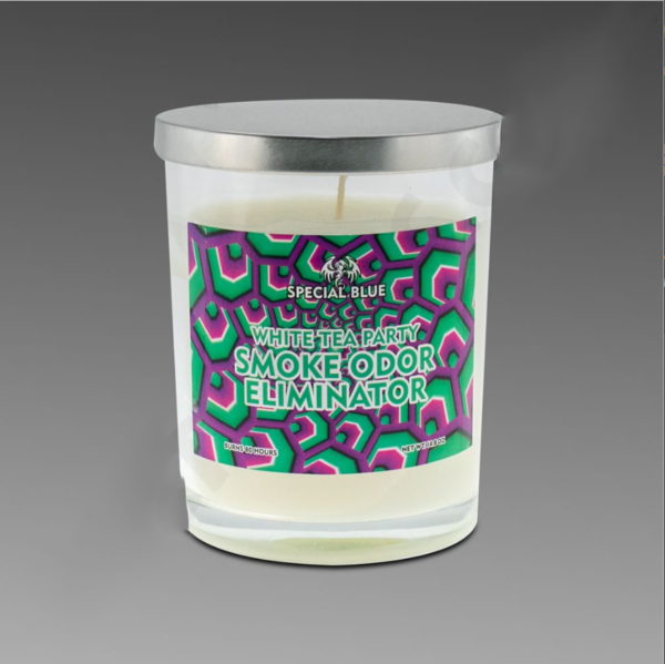 Special Blue White Tea Party Candle 13oz