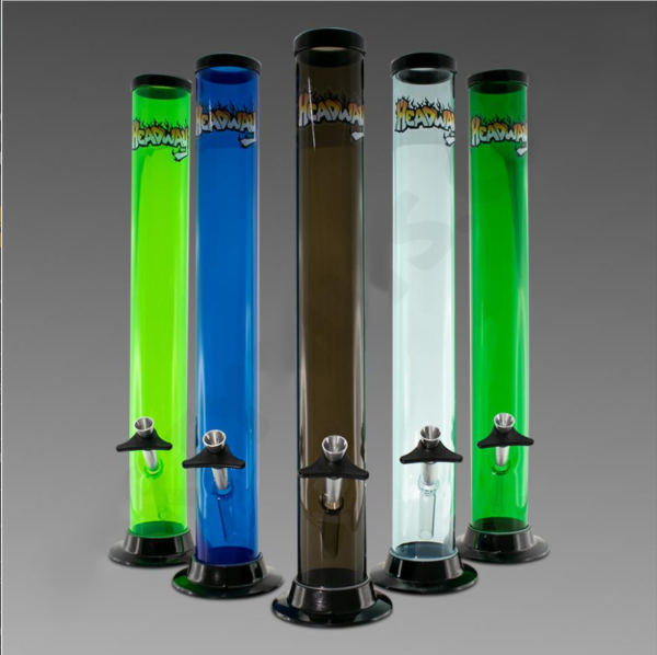 "Headway Water Pipe 16"" Straight - Acrylic"