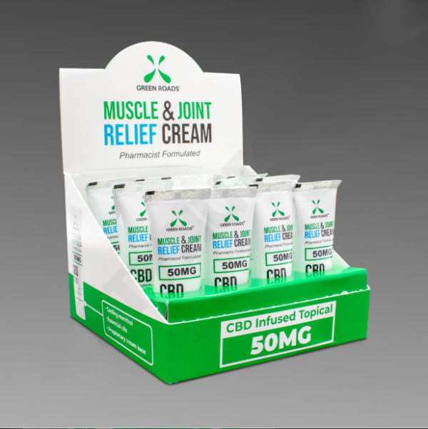 Green Roads Muscle & Joint Relief Cream 50mg 12ct