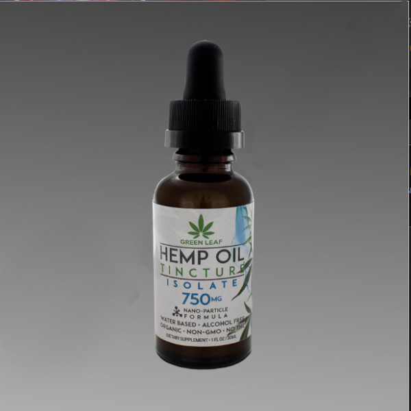 Green Leaf Tincture 750mg Isolate 30ml Water Based