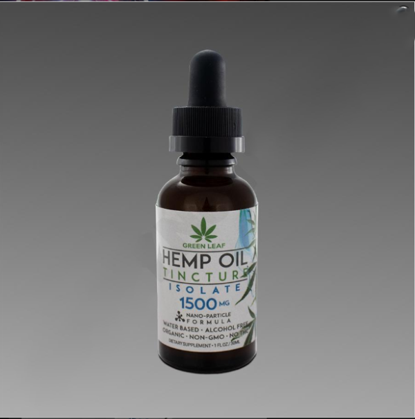 Green Leaf Tincture 1500mg Isolate 30ml Water Based