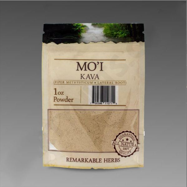 Mo'i Kava 1 oz Lateral Root Powder by Remarkable Herbs