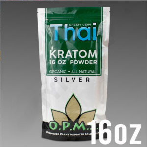 O.P.M.S. Silver - Green Vein Thai POWDER 16 oz Kratom