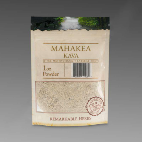 Mahakea Kava 1 oz Lateral Root Powder by Remarkable Herbs