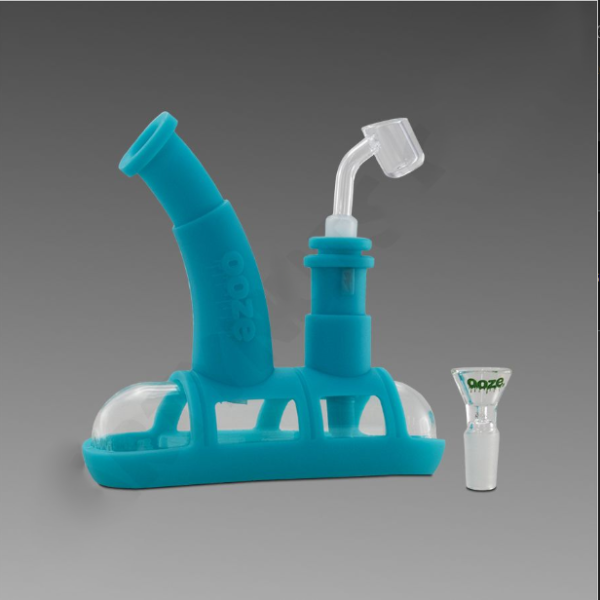 Ooze Steamboat Teal - Silicone Bubbler